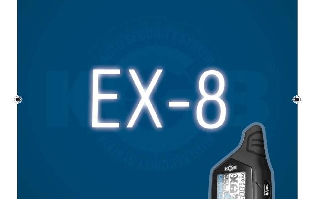 avtomobilnaya ohrannaya sistema s funkcziej distanczionnogo zapuska dvigatelya i 2 storonnej svyazyu kgb ex 8